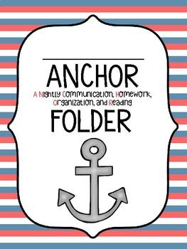 Nautical Anchor Folder