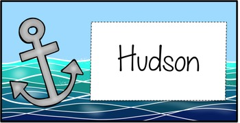 Nautical Anchor Labels