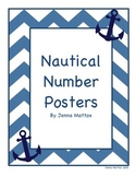 Nautical Anchor Number Posters