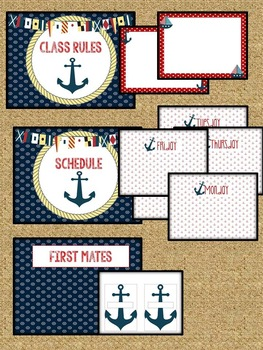 Nautical Anchor Themed Classroom Decoration Set Tpt