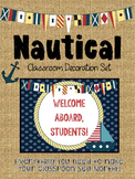 Nautical Anchor Themed Classroom Decoration Set