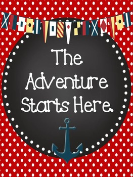 Nautical Anchor Themed Classroom Motivational Poster Set