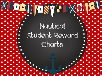 Nautical Anchor Themed Student Behavior Reward Charts