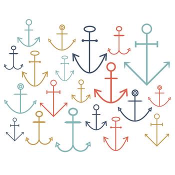 Nautical Anchors { Digital Clip Art }