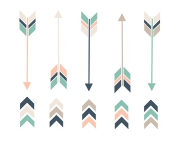 Nautical Arrow Clipart, Nautical, Arrow, Set #215