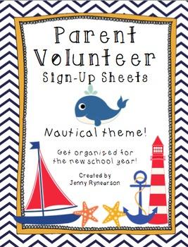 Nautical BUNDLE! Scholar Targets, Friendship Targets, & Volunteer Forms!