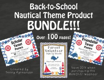 Nautical BUNDLE! Scholar Targets, Friendship Targets, & Vo