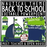 Nautical Theme Back To School PowerPoint for Open House and Meet The Teacher