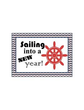 Nautical Back-to-School Postcard