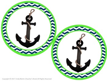 Nautical Themed Classroom Banner (SMILE and WELCOME)