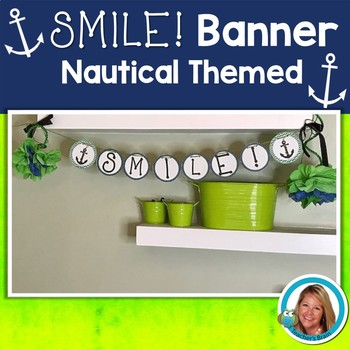 Welcome Banner Editable Nautical Themed Classroom Banner