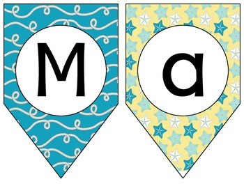Nautical Banners - MEGA BUNDLE (16) - Aqua & Yellow Set