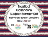 Nautical Banners - MEGA BUNDLE (16) - Navy & Red Set