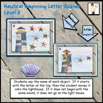 Nautical Beginning Letter Sounds Interactive ELA Digital Google™ Resource