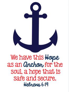 Nautical Bible Verse Inspirational Posters