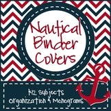 Nautical Teacher Binder Covers: Editable