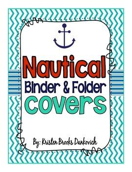 Nautical Binder Covers (EDITABLE!)