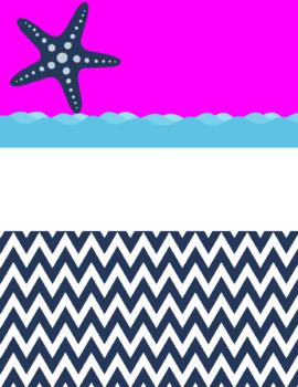 Nautical Binder Covers {Confetti and Creativity Clip Art}