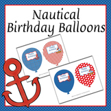 Nautical Birthday Balloons (4 different designs)