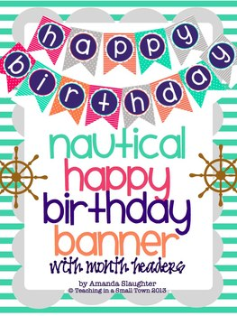Nautical Birthday Banner and Month Display