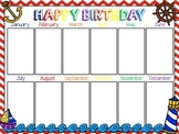 Nautical Birthday Chart (Editable)