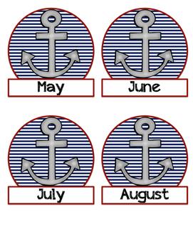 Nautical Birthday Display