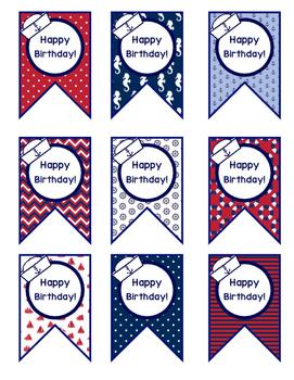 Nautical Birthday Tags