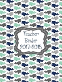 Nautical Blue Whales Themed Teacher Planner/Binder Pages