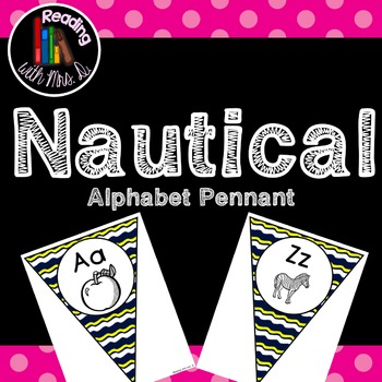 Nautical Blue and Yellow Alphabet Pennant Banner Bunting