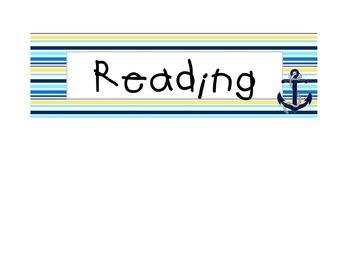 Nautical Board Labels {Editable}