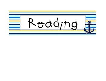Nautical Board Labels {Editable}