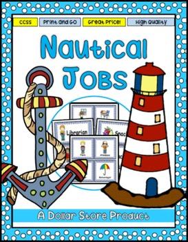 Nautical / Boating Theme Classroom Jobs