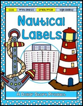 Nautical / Boating Theme Classroom Labels EDITABLE