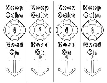 Nautical Bookmarks to Color