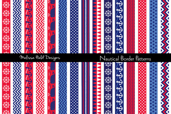 Clipart: Nautical Border Patterns Clip Art