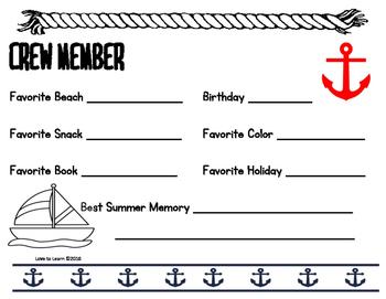 Nautical Bulletin Board Item