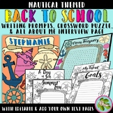 Nautical Bundle: All About Me Interview, Writing Prompts,