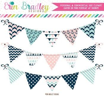 Nautical Bunting Clipart