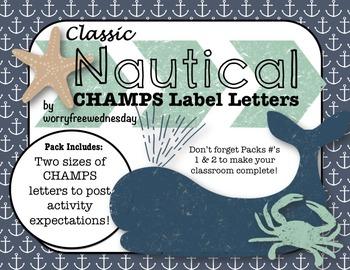Classic Nautical CHAMPS Labels (Editable)