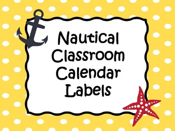 Nautical Calendar Labels