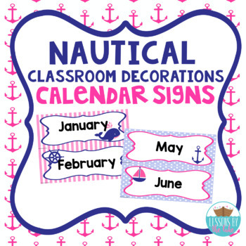 Nautical Calendar Month Signs