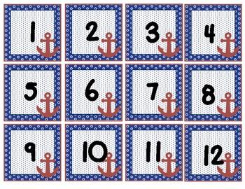 Nautical Calendar Numbers, Months, Days