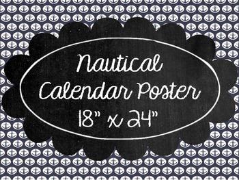 Nautical Calendar Poster