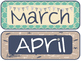 Nautical Calendar Set Mint and Navy
