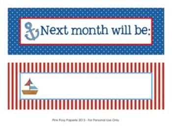 Nautical Calendar Set - Months - Days - Numbers