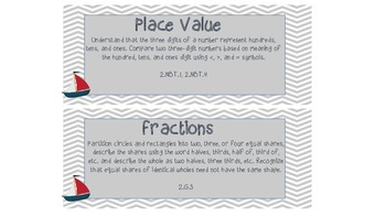 Nautical Center Activities Tub Labels