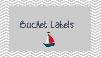 Nautical Center Activities Tub Labels