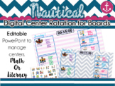 Nautical Center Rotation Board (Center Rotation Powerpoint) Math or Literacy