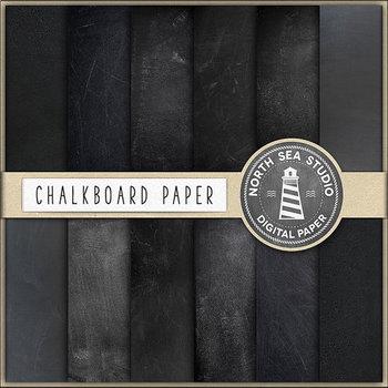 Nautical Chalkboard Paper - 24 Digital Backgrounds