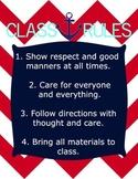 Nautical Chevron Class Rules
